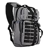 Red Rock Outdoor Gear Rambler Sling Pack Tornado Black (Color: Tornado Black)