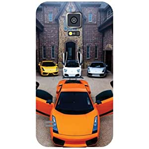Printland Multi Cars Back Cover For Samsung Galaxy S5