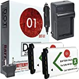 2x DOT-01 Brand 1800 mAh Replacement Sony NP-BX1 Batteries and Charger for Sony HX50V Digital Camera and Sony BX1