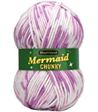 Marriner Mermaid Chunky Knit 100G |Acrylic Yarn/Wool (Pink)