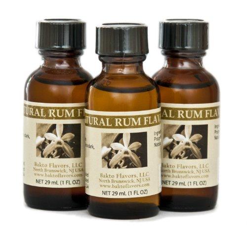 Bakto Natural Rum Flavor (1 FL OZ) Pack of 3