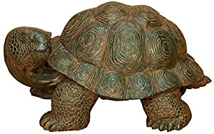 Deco 79 Poly-Stone Turtle, 20-Inch by 10-Inch
