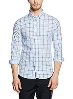 Uominitaliani Camisa Hombre 8609 (Blanco / Cielo / Azul)