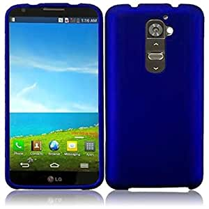 HR Wireless Rubberized Case for LG G2 - Retail Packaging - Blue