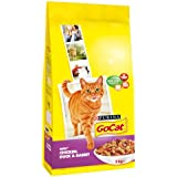 Go-Cat Adult Chicken, Duck and Rabbit Dry Cat Food, 2 kg (Pack of 4)