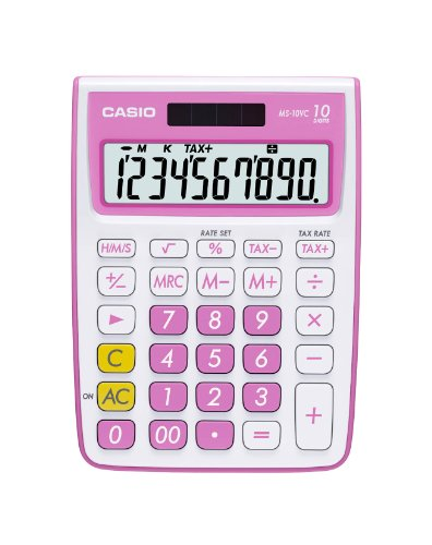 Casio Inc. MS-10VC-PK Standard Function Calculator