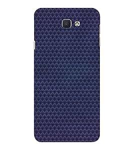 EPICCASE Navy blue patternerd Mobile Back Case Cover For Samsung Galaxy J7 Prime (Designer Case)