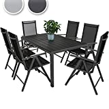 Miadomodo® STZG36 7 Pcs Garden Furniture Set Dark Grey