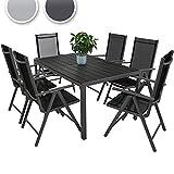 Miadomodo® STZG36 7 Pcs Garden Furniture Set Dark Grey
