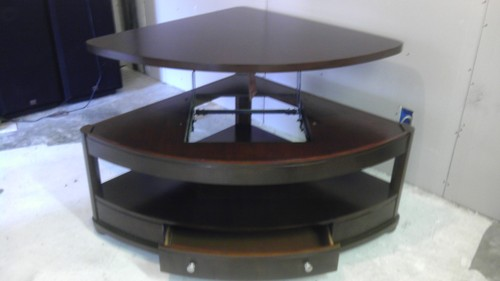 Coaster Pie Shaped Lift Top Occasional Sectional Coffee Table Lift Up Coffee Table