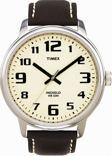 Timex Original T28201 PF Men's Analog Quartz Watch with Brown Leather Strap