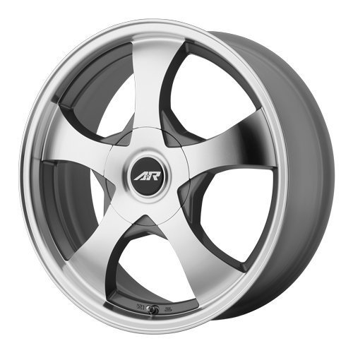 American Racing Custom Wheels AR895 Dark Silver Wheel With Machined Face (15x7