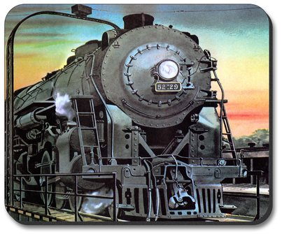 Decorative Mouse Pad Steam Locomotive Train
