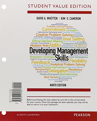 Developing Management Skills, Student Value Edition (9th Edition)
