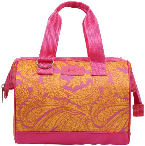 Sachi 34-173 Insulated Fun Prints Lunch Tote, Pink Pasiley - 1