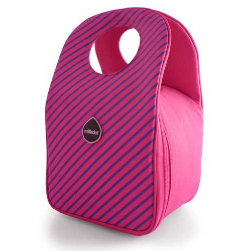 Milkdot Stöh Lunch Tote - Raspberry Stripes