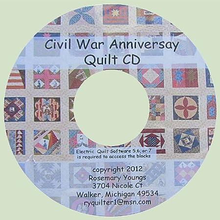 Civil War Anniversary Quilt CD for Electric Quilt EQ5, EQ6, or EQ7