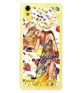 Fruit Girl 2D Hard Polycarbonate Designer Back Case Cover for Lenovo A6000 Plus :: Lenovo A6000+ :: Lenovo A6000