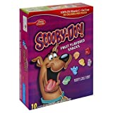 Fruit Shapes Fruit Flavored Snacks, Scooby Doo, 10-Count Pouches (Pack of 10)
