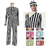 Lumierechatハロウィンコスプレ囚人服衣装高品質素材プリズナーウェア(M,Prisoner)