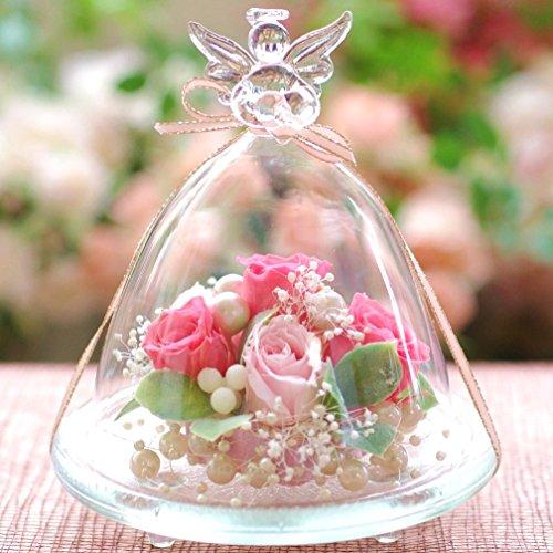 プリザーブドフラワーIPFA プリザーブドフラワー ギフト 『ガラスドーム エンジェル (ピンク&ピンク)』