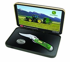 Buy Case Cutlery 15713 Case John Deere Corn Cob Jigged Bright Green RussLock in Jewel Box, Bright Green... by Case
