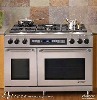 Dacor epicure 48 in stainless steel for Dacor 48 dual fuel range