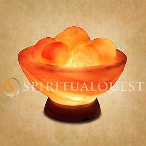 Himalayan Salt Lamp Bowl with Healing Balls