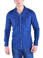 Galvanni Camisa Vaquera Ridney (Azul)