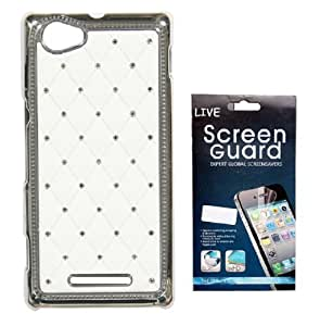 KolorEdge Back cover + Screen Protector for Sony C1904 Xperia M - White