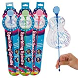 Party Favor/ Stocking Stuffer Pack- The Amazing Sparkling Spindle Wand- 12 PIECES