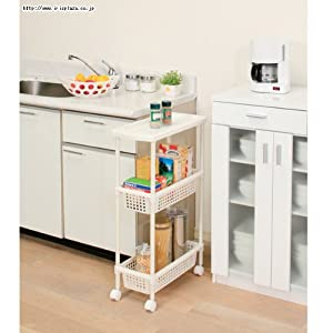 Laundry Cart Kitchen Cart For Narrow Space Mkw 3s Home Storage Baskets