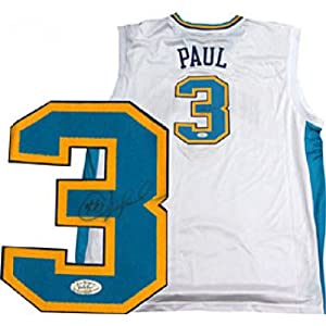 Chris Paul Autographed Signed White New Orleans Hornets Replica Jersey by Hollywood Collectibles