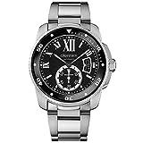 Cartier Calibre de Cartier Diver Black Dial Steel Mens Watch W7100057 (Color: Black)