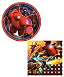 Big Hero Six Dessert Plates and Beverage Napkins for 16 Guests