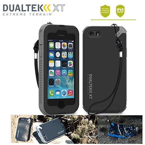防水規格IP65クリア! 米軍MIL規格準拠 指紋認証機能対応! ストラップ付属(ストラップ取付可) 日本正規代理店品 防水 防塵 耐衝撃 ケース PureGear DualTek XT iPhone5 / iPhone5S au docomo SoftBank アイフォン5 アイフォン5S ケース (ブラック/グレイ)