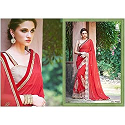 Sahiba Women's Georgette SAREE with Fancy Fabrics (SS_20_Pack of 1_Large)