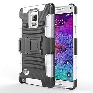 Etui Samsung Galaxy Note 4 Coque Clip Ceinture Béquille Robuste