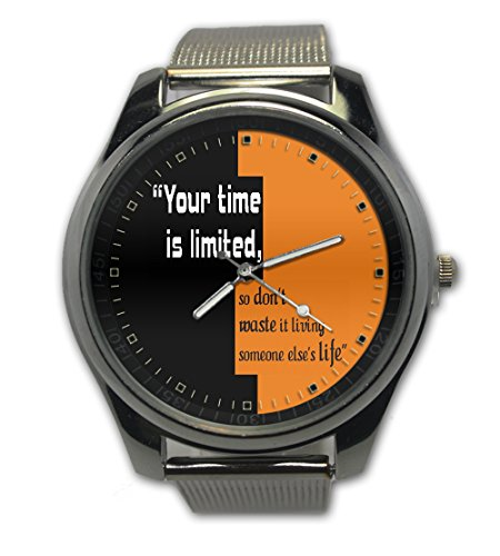 Time Is Limited Quotes Steven J Image Snap On Watch Stainless Steel