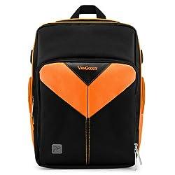 MyVangoddy Fujifilm FinePix HS35 EXR Orange Sparta Collection SLR Camera Backpack