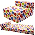 Gilda � STANDARD CHAIRBED - SPOTTY COTTON Single Chairbed Guest Z Chair bed Hardwearing Washable 100% Cotton Bed Z Bed Chairbed Futon Fold Out Guest Sleep Over Bed more fabric colours & types available instore