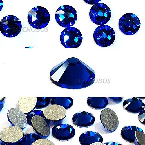 CAPRI BLUE (243) Swarovski NEW 2088 XIRIUS Rose 34ss 7mm flatback No-Hotfix rhinestones ss34 18 pcs (1/8 gross) *FREE Shipping from Mychobos (Crystal-Wholesale)*