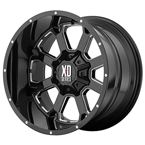 XD Series by KMC Wheels XD825 Buck 25 Gloss Black Wheel with Milled Accents (20x10