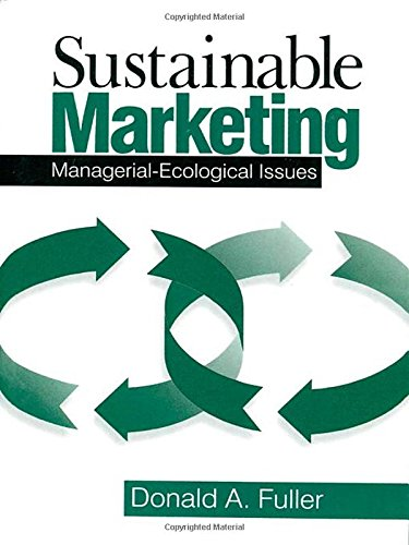Sustainable Marketing: Managerial - Ecological Issues front-24207