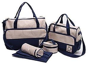 WenMei Baby Diaper Changing Mat Bag Mummy Tote Handbag Maternity Bags 5pcs Mummy Bag by WenMei