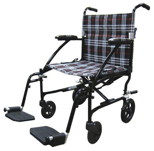 Fly Lite Ultra Lightweight Transport Wheelchair Blue