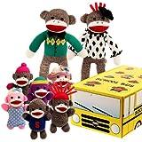 Sock Monkey Family School Bus