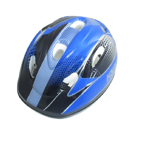 Como Children Blue Striped Foam Inner Skateboard Bicycle Helmet Headpiece