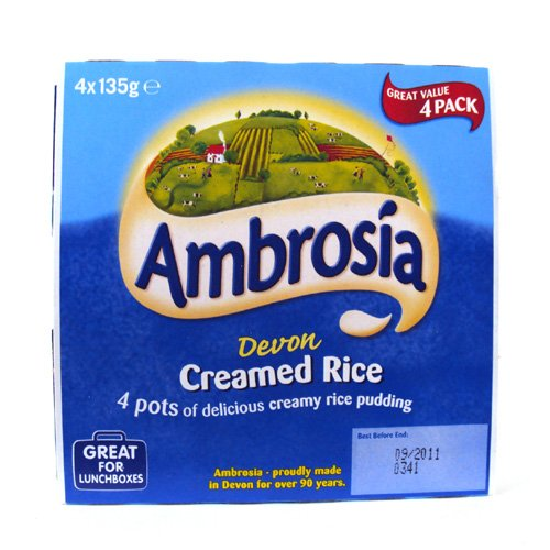 Ambrosia Creamed Rice Pudding 4x135g 540g (Creamed Rice compare prices)