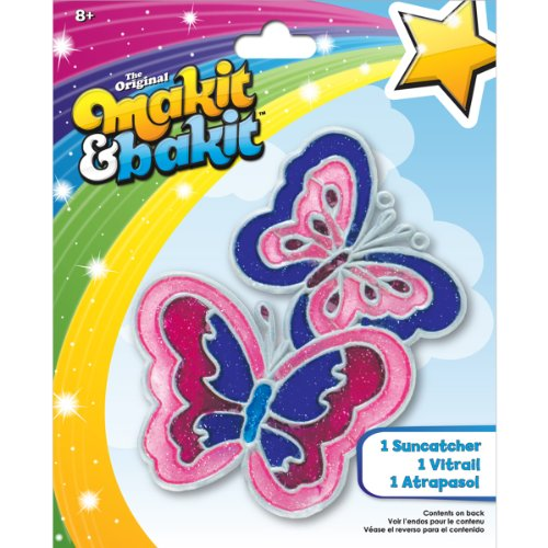 Colorbok Makit and Bakit Suncatcher Kit-Butterflies